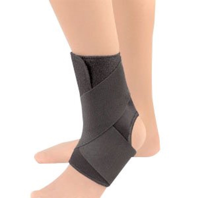 "FLA Safe-T-Sport EZ-On Wrap-Around Ankle Support, 12.5 To 14.5"" Inches, Large, Black"