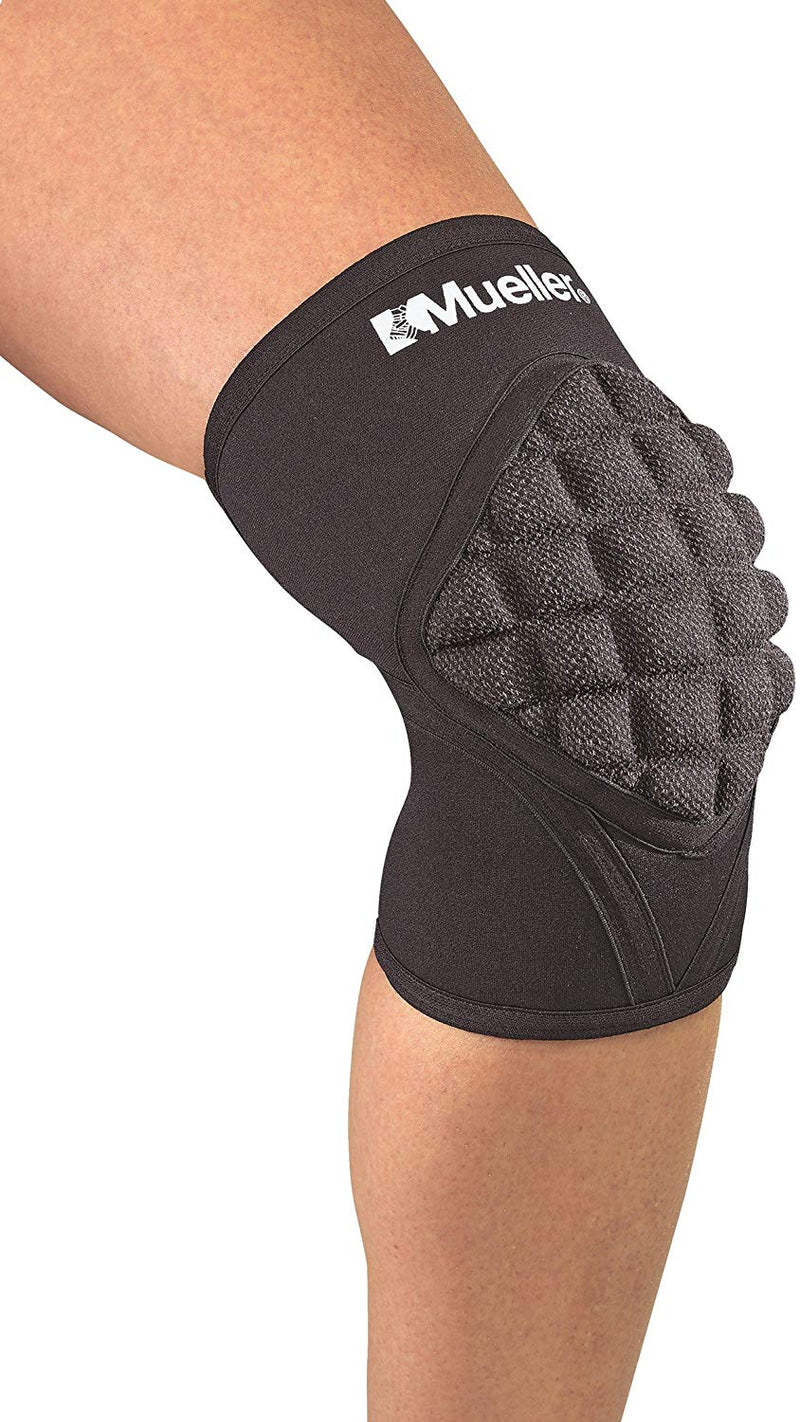 Mueller Sports Pro Level Neoprene Knee Pad With Kevlar, Medium Size 14 - 16 Inches, Black