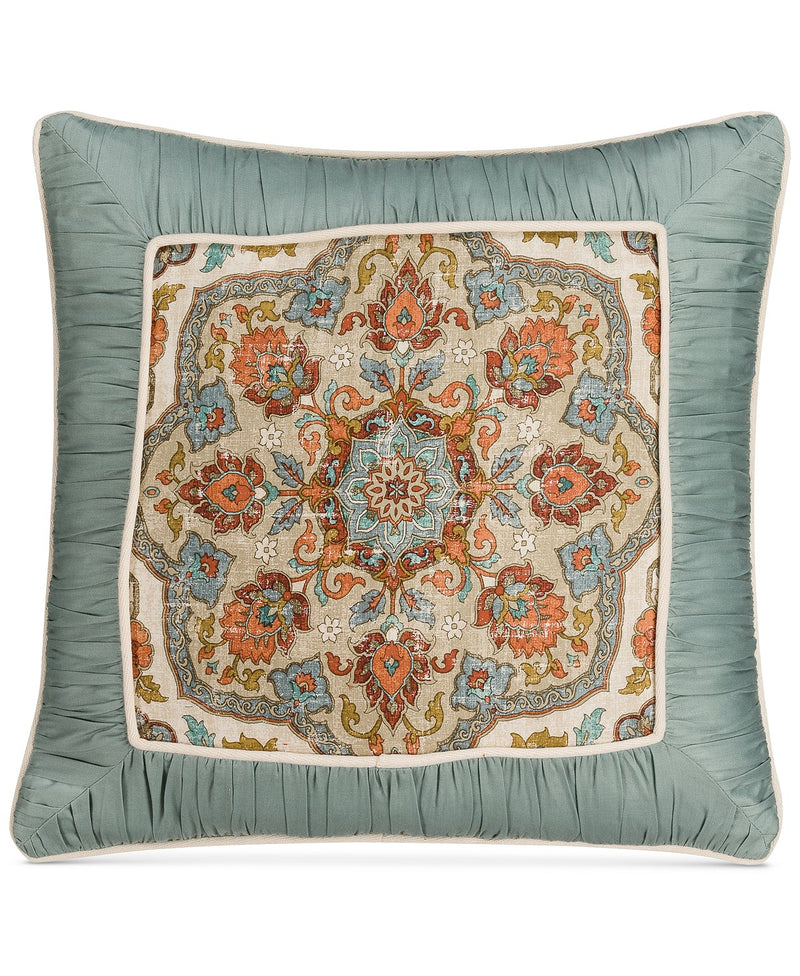 Savannah Home Marrakesh Embellished 18 Inches Square Decorative Pillow, Multicolor
