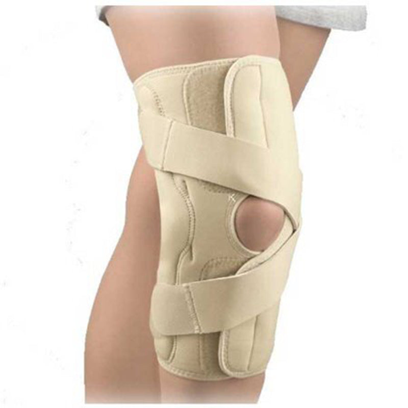 FLA Orthopedics Arthritis Left Knee Brace Medial, Provides Excellent Support and Targeted Pain Relief, Extra Small: 12 Inches - 13 Inches, Beige
