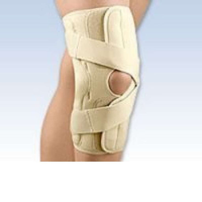 FLA Orthopedics OA Arthritis Right Knee Brace Medial Provides Therapeutic Warmth, Extra Small: 12 cm - 13cm, Beige