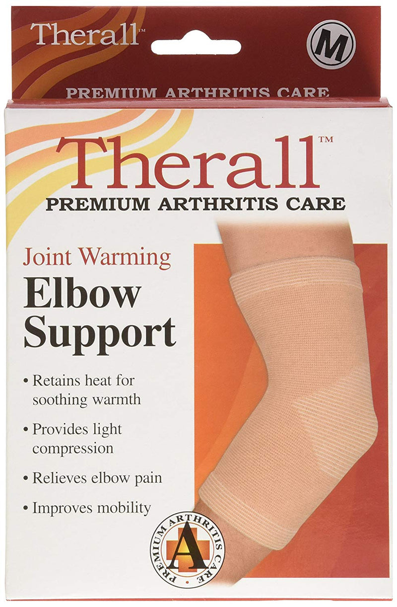 FLA Orthopedics Therall Joint Warming Elbow Support Four-way Stretch Material Medium, Beige
