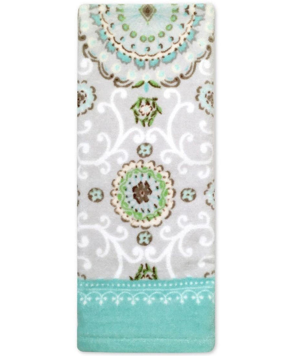 Bardwil Dena Camden 16 Inch x 28 Inch All Cotton Hand Towel, Multicolored with Classic Medallion Motifs