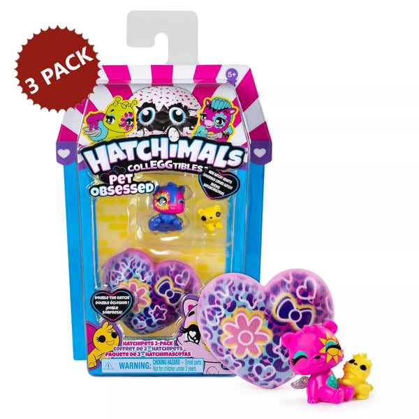 3-PACK Hatchimals CollEGGtibles Pet Obsessed Hatchets Mystery Assortment, 6 Count