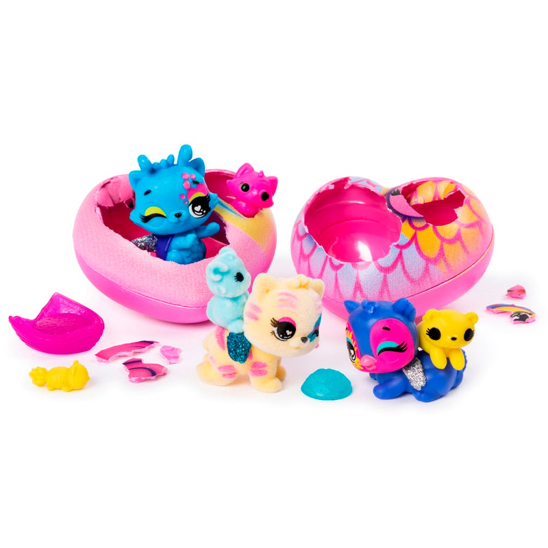 Hatchimals Colleggtibles Pet Obsessed Pet Shop Multi-Pack with 3 Colleggtibles, 3 Pets and Accessories