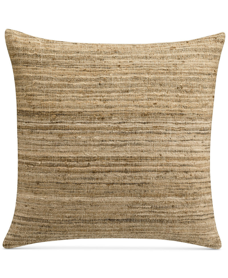 Savannah Home Morris Texture Stripe 18 Inches Square Decorative Pillow, Bring a Stylish Breath of Fresh Air to Any Room, Natural