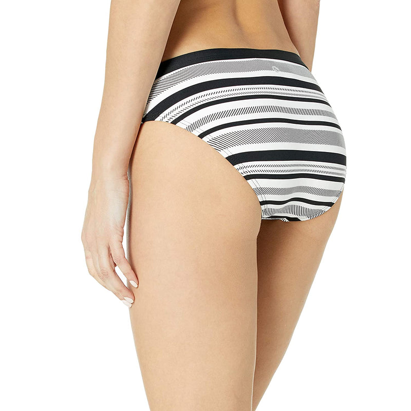 Next Women's Wave Catcher Retro Swimsuit Bikini Bottom, Medium, Black/White Stripe