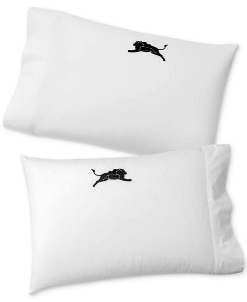 Whim by Martha Stewart Collection Set of 2 Holiday Paired Pillowcases, Standard (20 Inch x 30 Inch), White