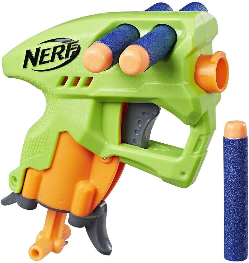Nerf N-Strike NanoFire, Includes Blaster and Three Darts, Compact Size, Single-Shot Blaster, Green