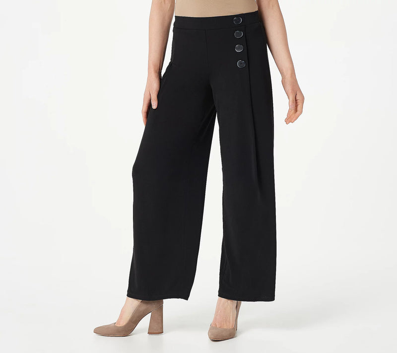 Every Day by Susan Graver Regular Comfy Flattering Liquid Knit Pull-On Pants, 2X, Black