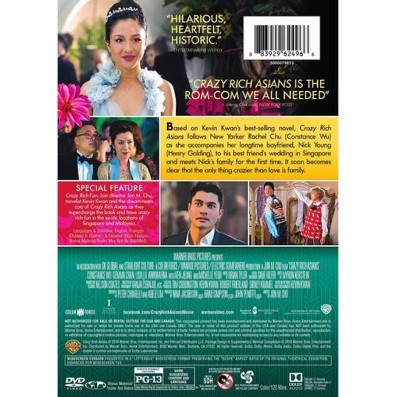 Crazy Rich Asians 2018 by Warner Home Video (DVD)