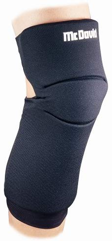 McDavid 647R-B Latex-Free Neoprene Knee Sliding Pad Long Softball, X-Small: 12 Inches - 1`4 Inches, Black