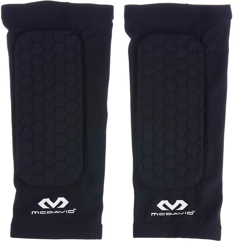 McDavid MD651 Hex Forearm Compression Elbow Sleeves, X-Small: 7 Inches - 8 Inches, Black