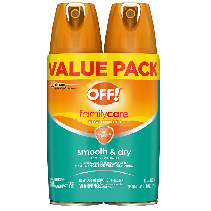 Off! Familycare Insect Repellent I, Tick Repellent with Smooth and Powder-Dry Formula, 4 Ounce, 2 Count