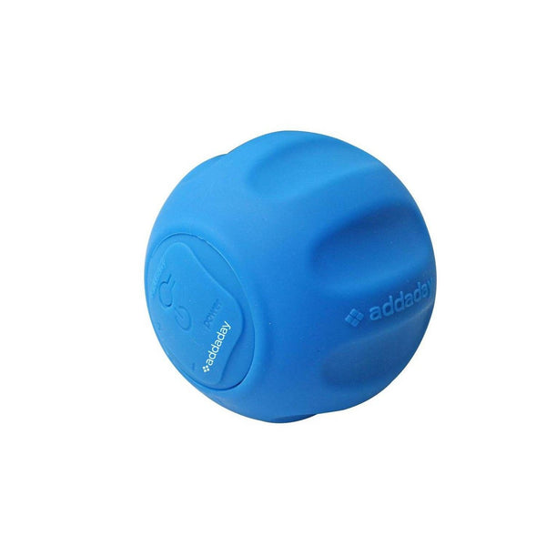 Addaday the Oscillating Bluetooth Enabled Rechargeable Compact Sphere Massager, Blue
