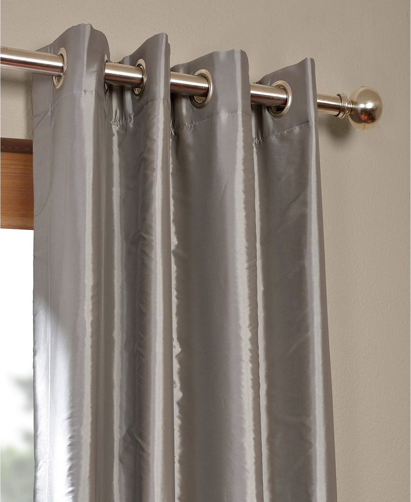 Exclusive Fabrics and Furnishings Grommet Blackout Taffeta Curtain Panel, Platinum