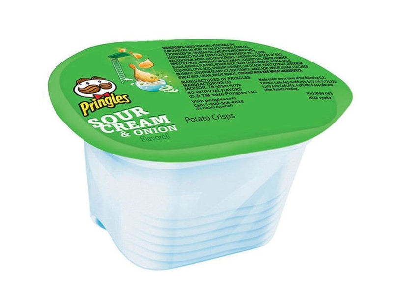 Pringles Peanut Free Sour Cream and Onion Flavour Snack Stacks Potato Crisps, 0.74 Ounce