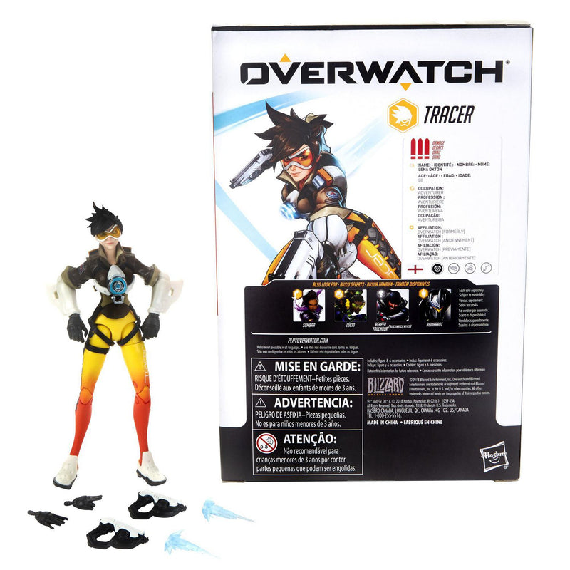 Hasbro Overwatch Ultimates Series Tracer 6-Inch-Scale Collectible Action Figure, Features Premium Detailing and Design, Brown