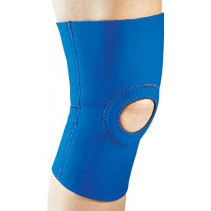 Procare Knee Support, 1/8 Inch Single-Sided Nylon Neoprene with Reinforced Patella, 15.5 To 18 Inch Circumference, Small, Blue