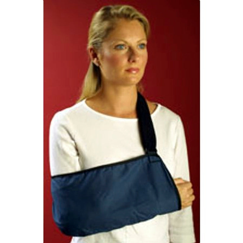 Med Spec Arm Sling with Soft Padded Shoulder Strap, Size: Fits Up to 16 Inches, Universal, Navy