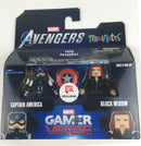 Marvel Fully Poseable Captain America and Black Widow Minimates Gamerverse Comics Hero Action Figure