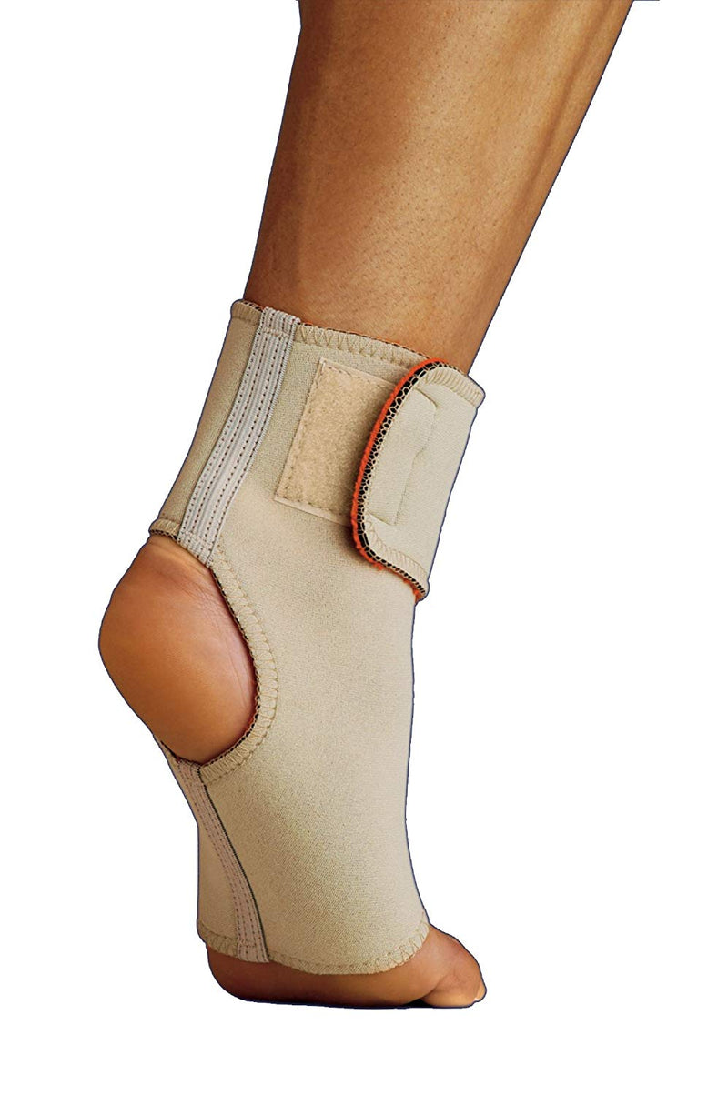 Thermoskin Ankle Wrap Soft and Comfortable Against the Skin, For Ankle Size Large: 25 Centimeters - 26 Centimeters, Beige