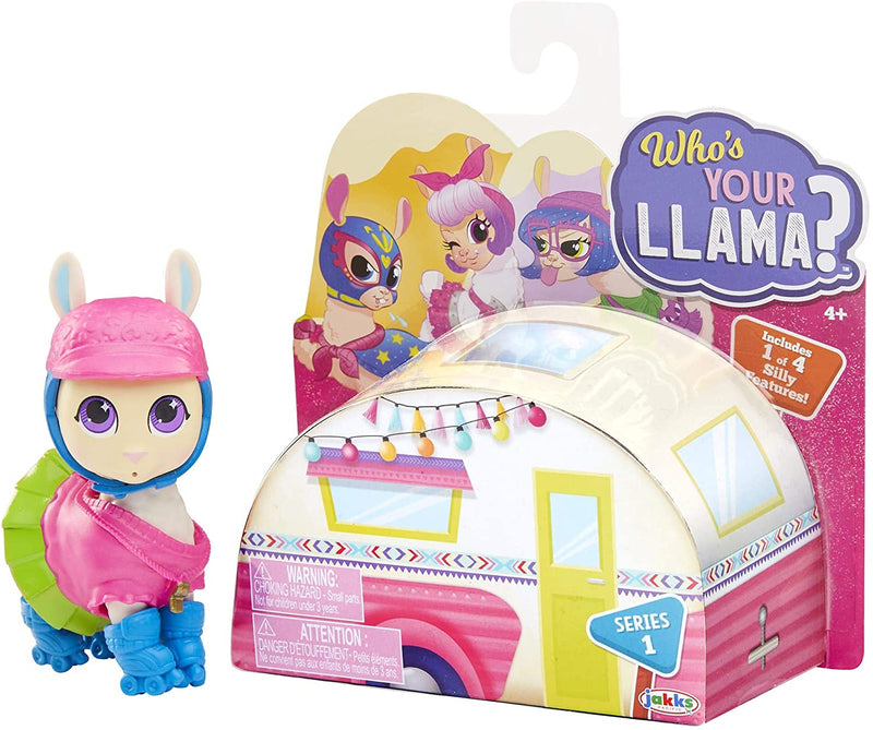 Jakks Pacific Who's Your Llama Toys, Feature Collectibles Styles, Comes with a Feature and Soft, Molded Outfit Articulated Body, Multicolored