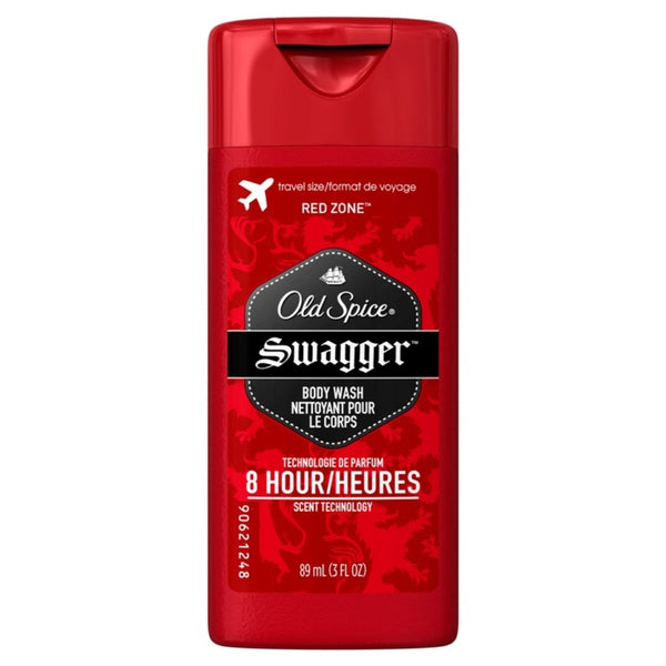 Old Spice Red Zone Swagger Body Wash, Lasts Upto 8 Hours, Scent of Confidence, 3 Ounce