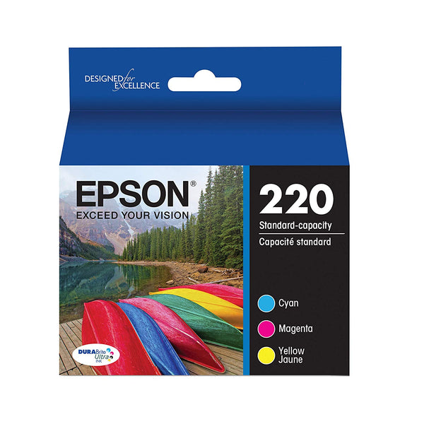 Epson 220 Ultra Color Combo Pack Standard-Capacity Ink Cartridges Fade and Water Resistant Prints