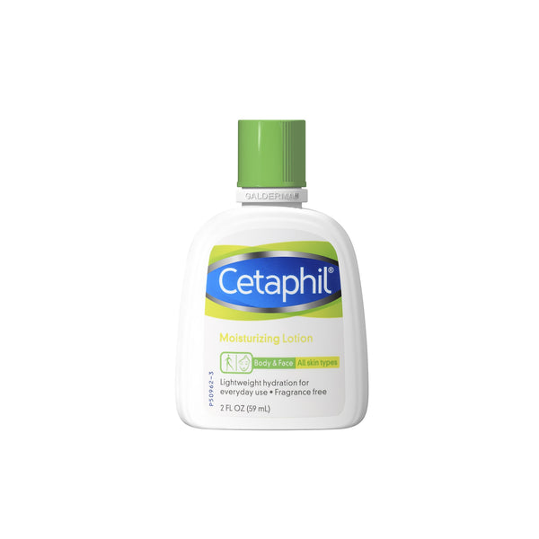 Cetaphil Body and Face Moisturizing Lotion Unscented, Lightweight Hydration for Everyday Use, 2.0 Ounce