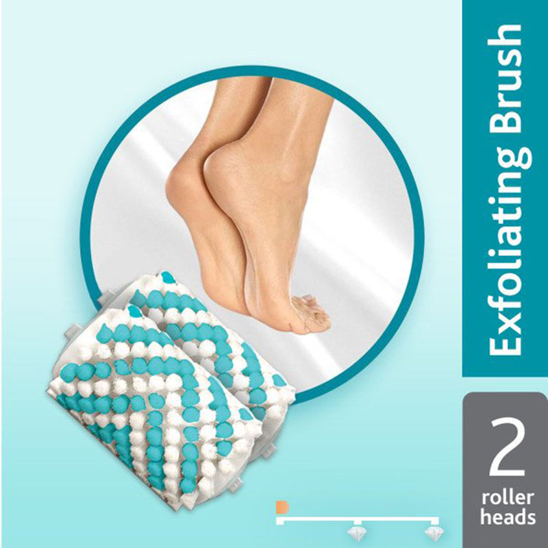 Amope Pedi Perfect Electronic Foot File Exfoliating Brush Refills, Get Beautiful Feet You Want to Show Off, 2 Refills