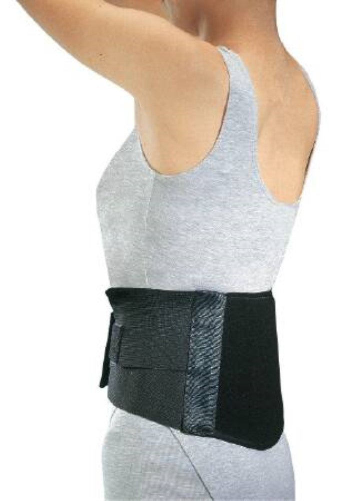 ProCare Industrial Back Support Compression Pad with Universal Suspenders, Small: 24 Inches - 30 Inches, Black