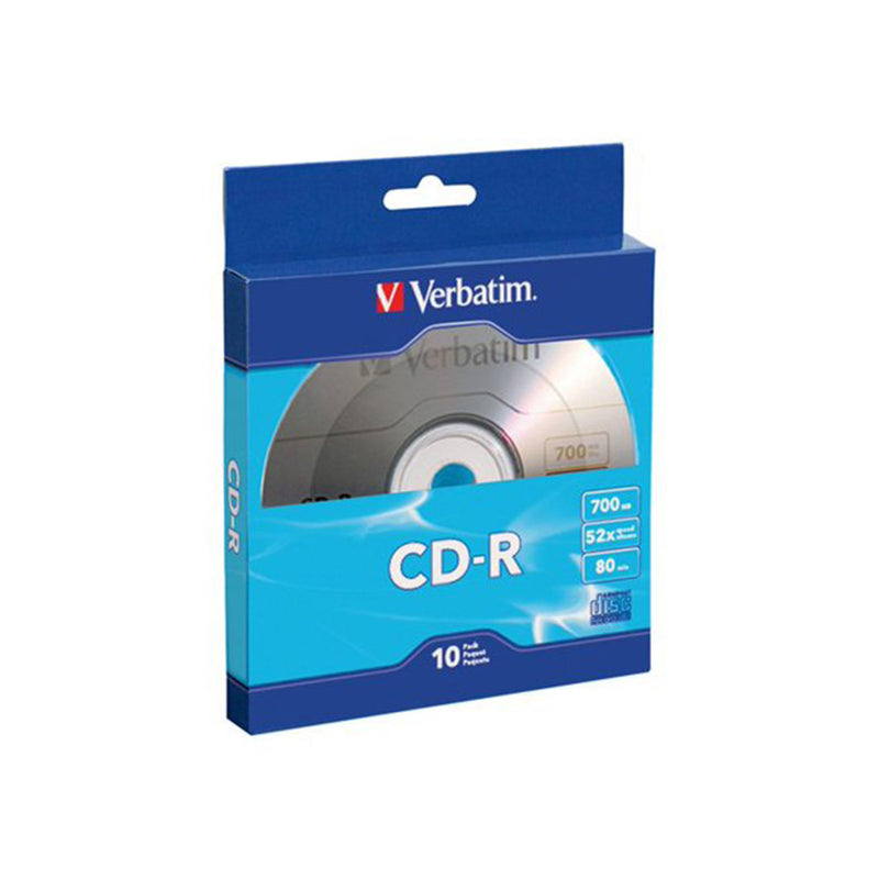 Verbatim 700 MB 80-Minute CD-Rs, Record Your Data in Less Tthan Two Minutes, 10 Pack