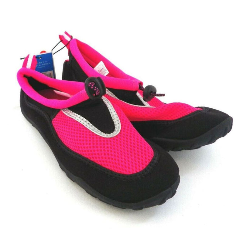 West Loop Women's Water Shoes, Made in China, Size: Small 5/6, Color: Pink/Black