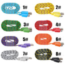 New Braided USB 3.0 Data Sync Cable Charger Original OEM for Samsung Galaxy Note 3 and Galaxy S5 V Phones Smartphones