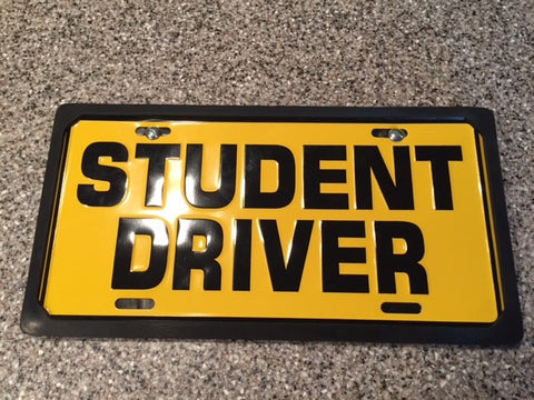 bar magnet license plate holder - item#157 – student driver products