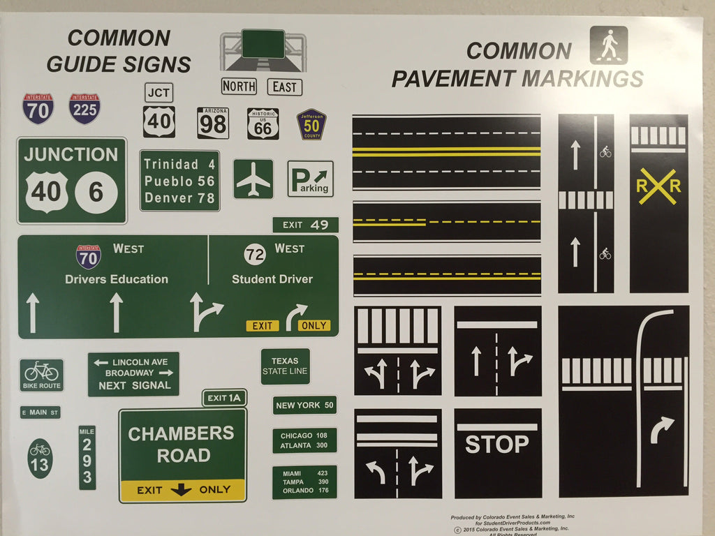 Posters Set Of 5 Item 139 Student Driver Products