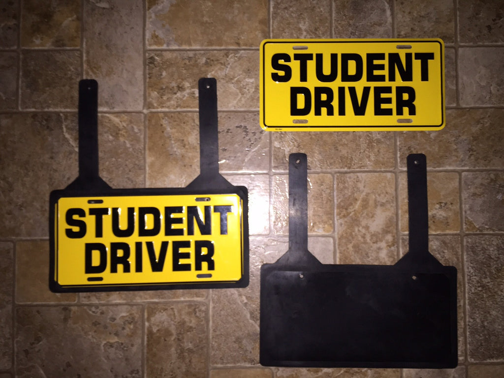 License Plate With Rubber Holder Item 140 Student