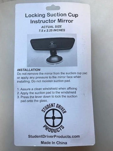 Locking Suction Cup Instructor Mirror - Item #118