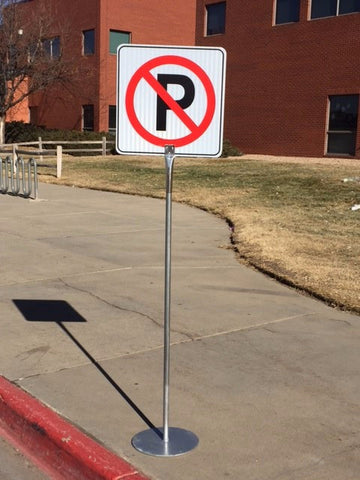Portable NO PARKING sign - ITEM #166