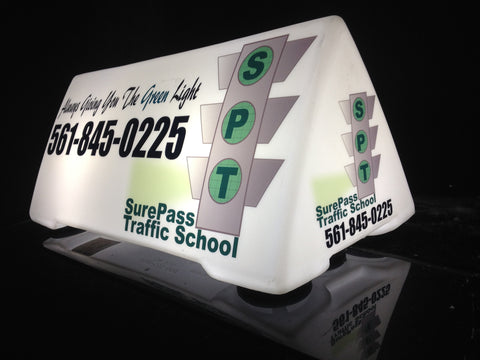 XL 4 Sided Magnetic Car Top Roof Sign - Item #107