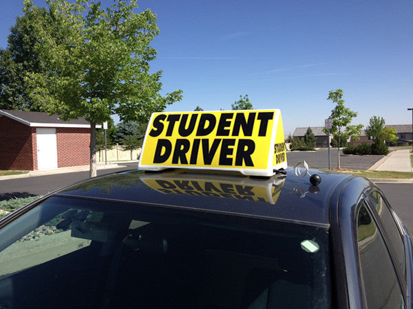 Xl 4 Sided Magnetic Car Top Roof Sign Student Driver