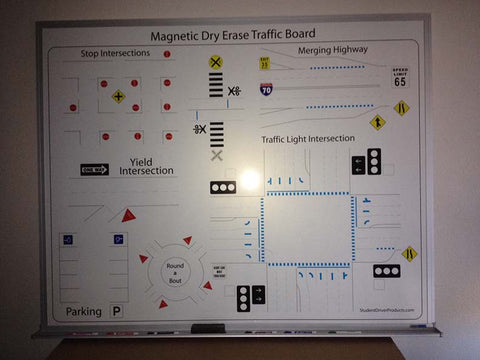 5'x4' Magnetic Dry Erase Traffic Board with Frame - Item #125