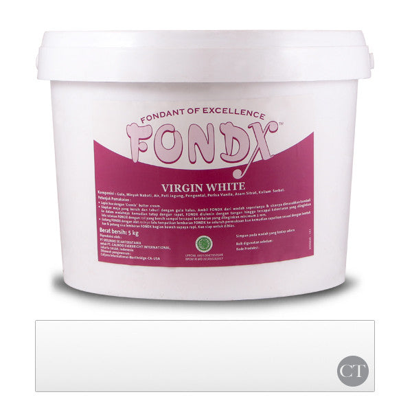 FondX Rolled Fondant 5Kg - Virgin White