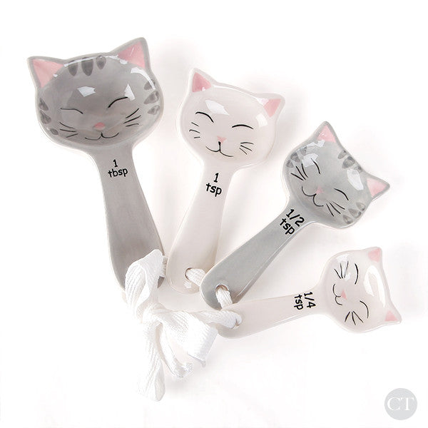 Ceramic Kitty Cat Measuring Spoons
