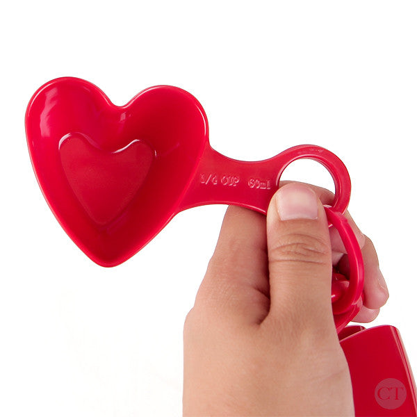 Red Heart Measuring Cups