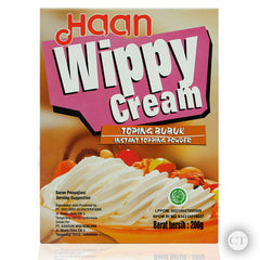 Haan Wippy Cream in powdered form is a great alternative for a non refrigerated and quick buttercream. Stable and soft texture, this whipped cream will likely be durable in extreme weather.
