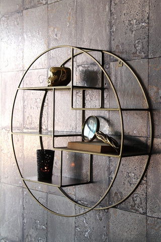 brass shelves