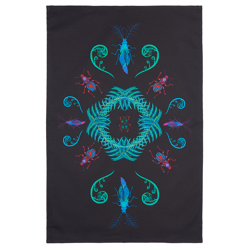 Glowing Ferns Tea Towel