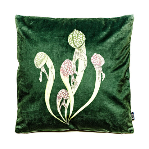 Cobra Lily Velvet Cushion